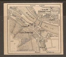 CARTE PLAN 1927 - CIRCUIT LE PUY YSSINGEAUX St AGREVE LE CHEYLARD TOURNON MÉZENC - Topographical Maps