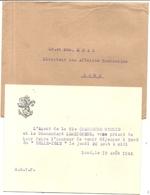 LOME . TOGO . 1942 . INVITATION DEJEUNER A BORD DU BELLE ISLE . CHARGEURS REUNIS .+ ENVELOPPE - Bateaux