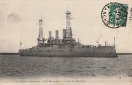 """Le Cuirassé Américain """"New Hampshire"""" En Rade De Cherbourg - Guerre"""