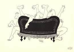 Albert DUBOUT - Editions Jean Dubout N'D 77 - Grivoises - Cailles Sur Canapé - Dubout