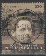 "Österreich 2018:  ""100.Todestag Peter Rosegger"" Gestempelt (siehe Foto) - 1945-.... 2. Republik"