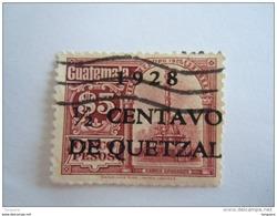 Guatemala 1929 Série Courante Monument Yv 229 O - Guatemala