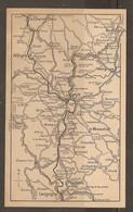CARTE PLAN 1927 - CIRCUIT LA CHAISE DIEU ALLEGRE LAVOUTE LE PUY LE MONASTIER PRADELLES LANGOGNE - Topographical Maps