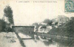 CPA.93.SEINE SAINT DENIS.LIVRY-L'ABBAYE.LE PONT DE L'UNION ET LE CANAL DE L'OURCQ. - Livry Gargan