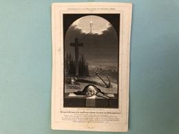 Jaspar Edouard *1804 Ath Pretre Priester Maulde Tournai Saint-Maur Chanoine Cathédrale+1849 Tournai Knekelprent Doodskop - Décès