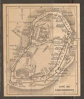CARTE PLAN 1927 - CITÉ De CARCASSONNE - Topographical Maps