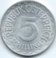 Austria - 1952 - 5 Schilling - KM2879 - Aluminium - Autriche