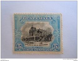 Guatemala 1902 Série Courante Palais De La Réforme Yv 122 MH (*) Zonder Lijm - Guatemala