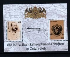 """Österreich 2018:  Block """"Bezirkshauptmannschaften"""" Postfrisch (siehe Foto) - 1945-.... 2. Republik"""