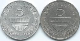 Austria - 5 Schilling - 1960 - KM2889 & 1981 - KM2889a - Autriche