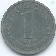 Austria - 1947 - 1 Groschen - KM2873 - Zinc - Autriche