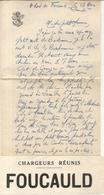 LETTRE + 2 CPA PHOTO + BANDEAU . A BORD DU FOUCAUD . MARS 1934 - Bateaux