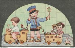 2 CPA - Jolies Illustrations - Jouets - Petit Magasin - Poupées - Etc...2 Scans - Jeux Et Jouets
