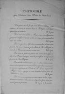 Ordre De Saint-Louis, Protocole, Début 19e S/ - Documentos Históricos