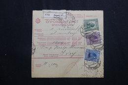 YOUGOSLAVIE - Bulletin De Colis En Recommandé De Zagreb Pour Sinj En 1928, Affranchissement Plaisant  - L 61966 - Briefe U. Dokumente