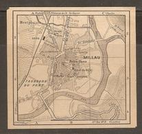 CARTE PLAN 1927 - MILLAU - MONTPLAISIR FAUBOURG Du PONT - Topographical Maps