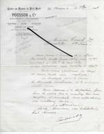 31 - Haute-garonne - MONTREJEAU - Facture POUSSON - Cuirs En Peaux Et Poil Suif - 1916 - REF 292 - France