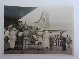 Aviation Sabena Photo Carte Postale Arrival At Leopoldville Belgian Congo Avion 00-CBQ - Advertisements
