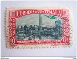 Guatemala 1939 Timbres Pour L'extérieur Quetzal En Surcharge Vert Monument Yv Aériens 119 O - Guatemala