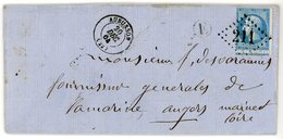 CREUSE LAC 1864 AUBUSSON GC T15 + BOITE RURALE E = SEOUVE LIEU-DIT DE LA COMMUNE DE NEOUX VOIR LES SCANS - Postmark Collection (Covers)