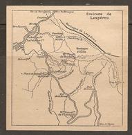 CARTE PLAN 1927 - ENVIRONS De L'ESPÉROU - MONTAGNES D'AULAS PONT De GRIMAL COL De La BROUE - Topographical Maps