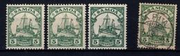 Samoa, 3 Francobolli Nuovi (**) E 1 Usato (difettoso) - Colonie: Samoa