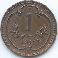Austria - 1911 - Franz Joseph - 1 Heller - KM2800 - Autriche