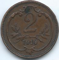 Austria - 1910 - Franz Joseph - 2 Heller - KM2801 - Autriche