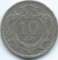 Austria - 1895 - Franz Joseph - 10 Heller - KM2802 - Autriche