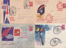 SPACE USSR STATIONERY COVER ENTIER POSTAL ESPACE URSS CCCP LOT DE 32 ENVELOPPES GAGARINE MOSCOU KIEV KOSMOS SATELLITE... - Brieven & Documenten