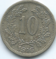 Austria - 1916 - Franz Joseph - 10 Heller -  KM2822 - Autriche