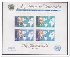 Venezuela 1963, Postfris MNH, Dag Hammarskjöld - Venezuela