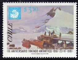 Polaire Chili N° 566 XX 25ème Anniversaire Du Traité Antarctique : 3 P. 50   Sans Charnière TB - Eventos Y Conmemoraciones