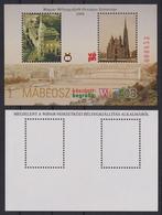 Danube River Wien WIPA 2008 Stamp Exhibition MABÉOSZ Philatelist Memorial Block Sheet Hungary BRIDGE Cathedral Church - Brücken
