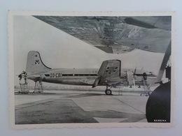 Aviation Sabena Photo Carte Postale Douglas DC-4'S At Brussel Airport Avion 00-CBI - Advertisements