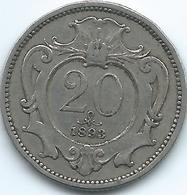Austria - 1893 - Franz Joseph - 20 Heller - KM2803 - Austria
