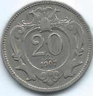 Austria - 1907 - Franz Joseph - 20 Heller - KM2803 - Austria