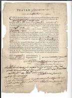 ROMA  1760 Teatro Argentina - Teatro Alla Valle  ( 2 Invitations ) - Documents Historiques