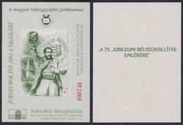 Kossuth Lajos / Chain Bridge  Hunfila 2002 Exhibition MABÉOSZ Federation Of Hungarian Philatelists / Commemorative Sheet - Brücken