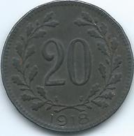 Austria - 1918 - Karl - 20 Heller - KM2826 - Austria