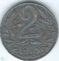 Austria - Karl - 1918 - 2 Heller - KM2824 - Austria