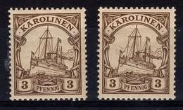 Caroline, 2 Francobolli Nuovi - Colonie: Carolines