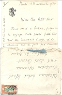 LETTRE + ENV + CPA . A BORD DU BRAZZA . 1934 - Bateaux