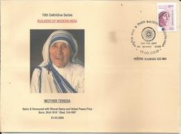 Mother Teresa,Mary Teresa Bojaxhiu, Saint, Nobel Peace Price Winner,FDC, No Official FDC Was Issued,Inde, India, - Mère Teresa