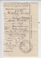 MALLES VENOSTA  1942 - Ricevuta Ccp - Italy