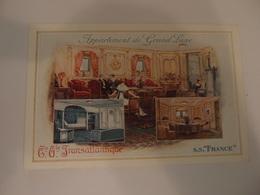 CPA Compagnie Générale Transatlantique Paquebot S.S. France Appartement De Grand Luxe - Steamers