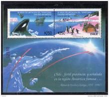 Polaire Chili B.F. N° 38 XX  Cinquantenaire De La Délimitation Du Territoire Antarctique Chilien Le Bloc Ss Charnière TB - Non Classificati