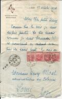 LETTRE + ENV PAR AVION . A BORD DU PROVIDENCE . 1941 - Bateaux