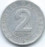 Austria - 2 Groschen - 1957 - KM2876 - Austria