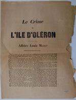 Le Crime De L'Ile D'Oléron, Affaire Louis Massé,1876 - Documentos Históricos